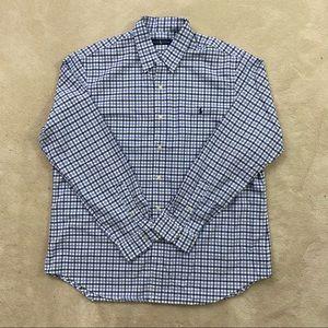 Polo Ralph Lauren Mens Blue Plaided Shirt Sz XXL